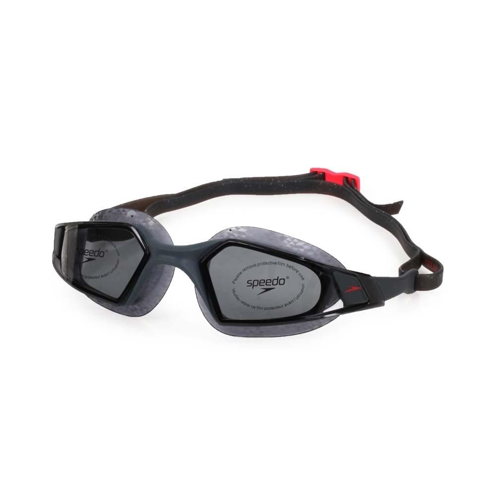 SPEEDO 成人運動泳鏡 Aquapulse Pro 深灰紅