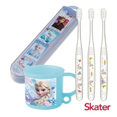 Skater幼童牙刷套組(3-5歲)-漱口杯+牙刷+牙刷盒-冰雪PARTY