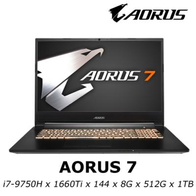 AORUS 7 電競筆電 i7-9750H / GTX1660Ti