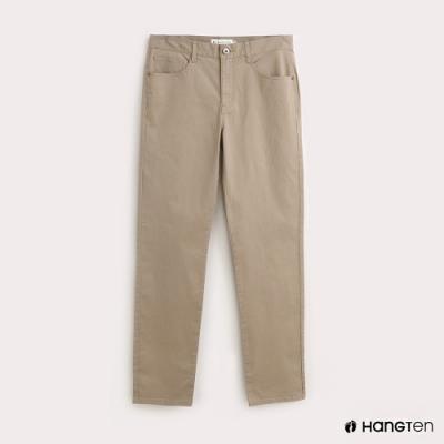 Hang Ten-男裝純色SLIM FIT修身卡其褲-卡其