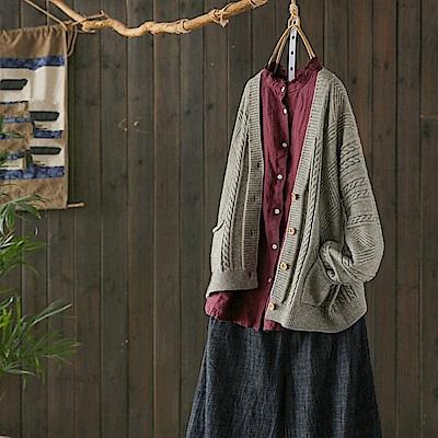 慵懶風毛衣外套薄版針織衫外搭/設計所在Y4855