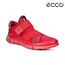 ECCO INTRINSIC 1 W 潮流單色襪套式運動鞋 女-紅色