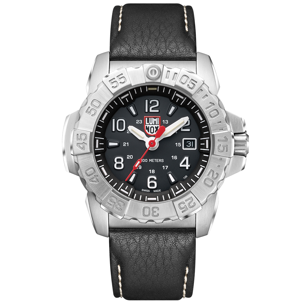 LUMINOX 雷明時 3250全新海豹2代鐵漢系列腕錶-黑x白時標/45mm