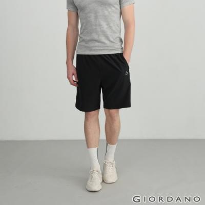 GIORDANO 男裝3M彈力內抽繩短褲 - 39 標誌黑
