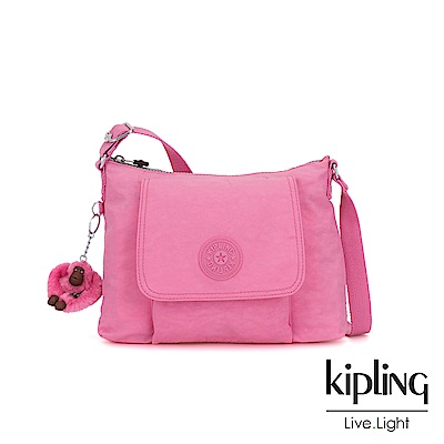 Kipling 甜美糖果粉掀蓋側背包-ELEANOR