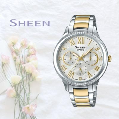 CASIO卡西歐 水晶元素點綴腕錶(SHE-3058SG-7A)