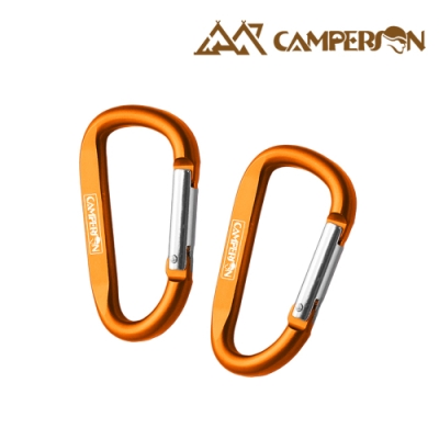CAMPERSON 鋁合金D型扣環 登山扣- 7cm(2入組) -金