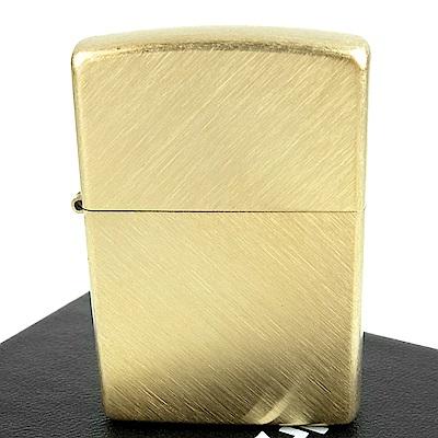 ZIPPO 美系~Herringbone Sweep Brass黃銅人字形拉絲刷紋