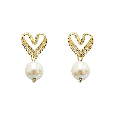 Prisme 美國時尚飾品 編織心意 金色耳環