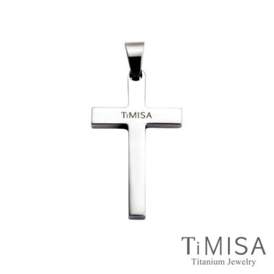 TiMISA  簡約十字(L) 純鈦墜飾