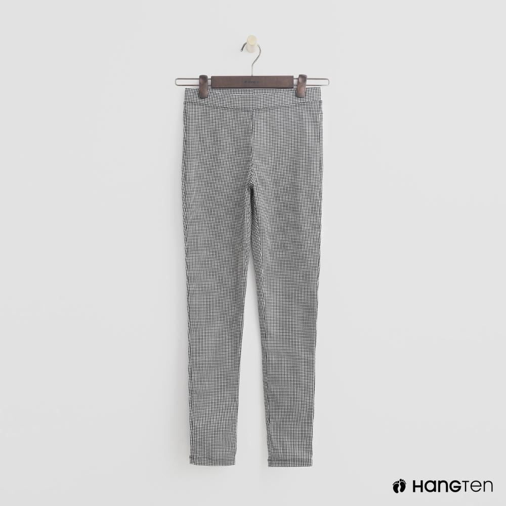 Hang Ten - 女裝 - 簡約彈性合身長褲 - 黑白格