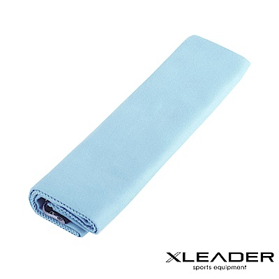 Leader X 輕量吸水抗菌速乾運動毛巾 淺藍