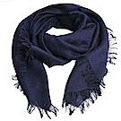 GUCCI SL GG LOGO 高質感100%棉質造型正方形圍巾(418222/海軍藍)