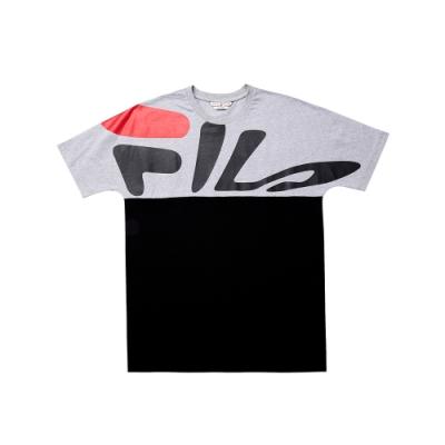 FILA 純棉短袖圓領T恤-黑色 1TET-5436-BK