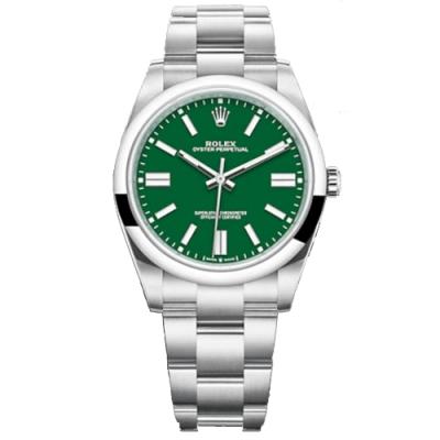 ROLEX 勞力士 124300 新款 OYSTER PERPETUAL 勞力士經典綠色 41mm