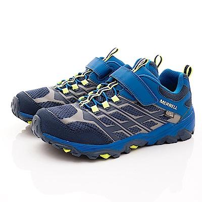 MERREL頂級童鞋 防水速乾耐磨鞋款 260331Y藍(大童段)