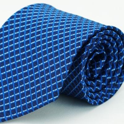 Alpaca 藍色格紋領帶
