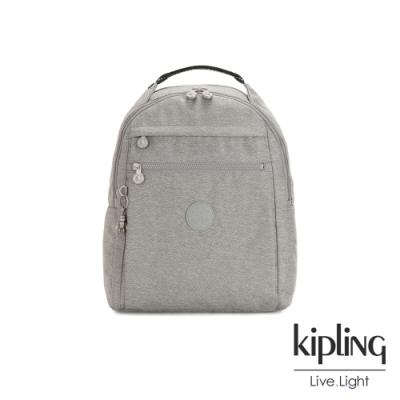 Kipling 清新柔和丹寧灰多袋實用後背包-MICAH