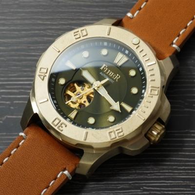 FIBER 青銅錶 海洋潛將青銅特別版-綠/43.7mm