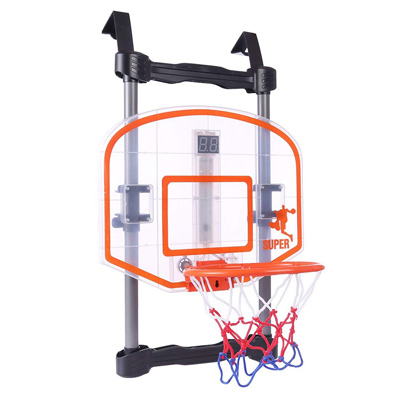 《得分射手》 組裝門掛式可調高度計分籃球架 附專用籃球及打氣筒