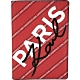 KARL LAGERFELD K/CITY 字母條紋塗層材質護照夾(紅色) product thumbnail 1