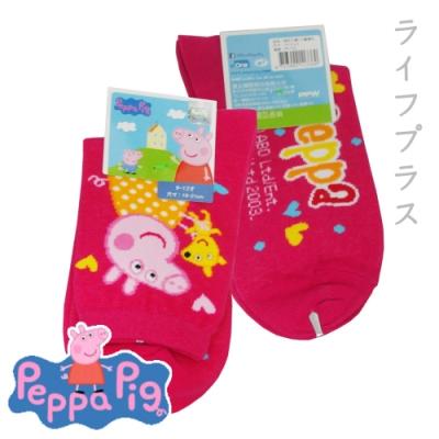 粉紅小豬1/2童襪-大-19~21cm-12雙入