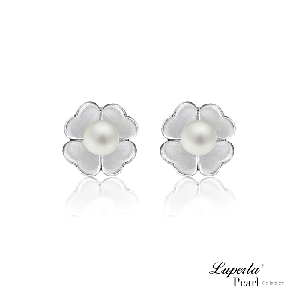 大東山珠寶 天然珍珠925銀耳環 最幸運的事