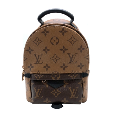 Louis Vuitton Palm Springs Mini Monogram 雙色款迷你後背包(M44872-咖)