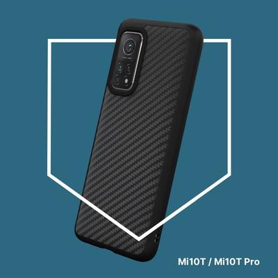 犀牛盾 Xiaomi小米 Mi 10T/Mi 10T Pro 共用SolidSuit防摔背蓋手機殼-碳纖維紋路