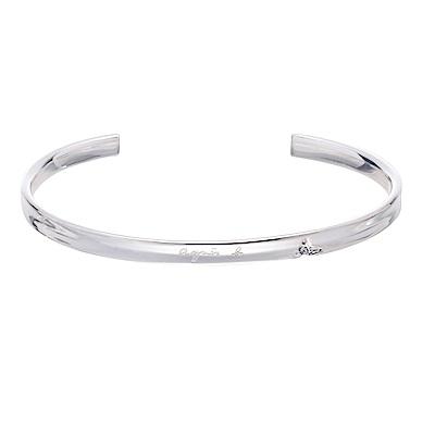 agnes b.品牌純銀手環(女/對環)