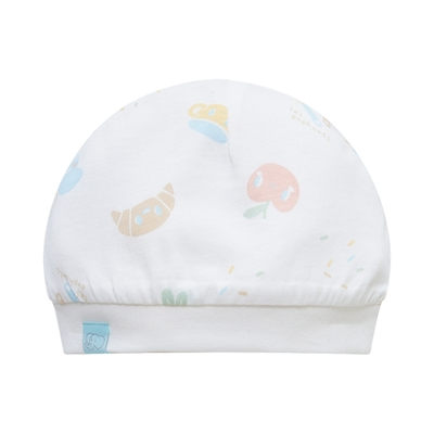 【麗嬰房】Cloudy雲柔系列 小象廚房嬰兒帽-白色
