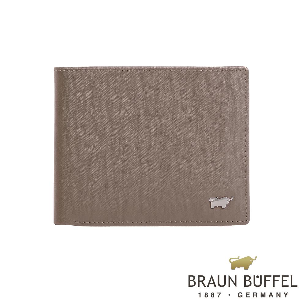 BRAUN BUFFEL - HOMME-M系列12卡中翻皮夾 - 卡其