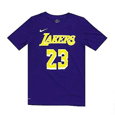 NIKE 青少年 DRI-FIT短袖T恤 湖人隊 LeBron James