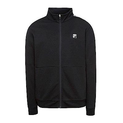 FILA 男款針織外套-黑 1JKS-5306-BK