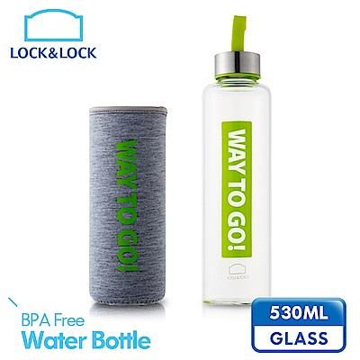 樂扣樂扣 樂活耐熱玻璃水壺530ML-綠色(8H)