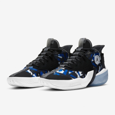 NIKE 籃球鞋 喬丹 AJ 運動鞋 緩震 包覆 男鞋 黑藍白 CK6617004 Jordan React Elevation PF