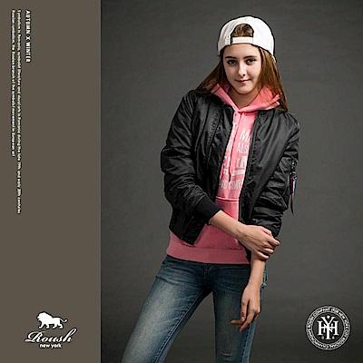 ROUSH 女生MA-1雙色織帶鋪棉飛行外套 (3色)