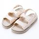 River&Moon涼鞋 小香風Q軟厚底防水涼鞋 米杏 product thumbnail 1