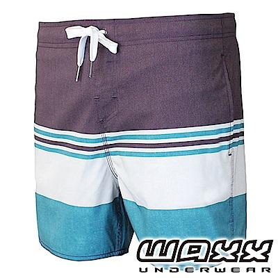 WAXX 衝浪系列-礁岩探險拼接快乾型男海灘褲(15英吋)