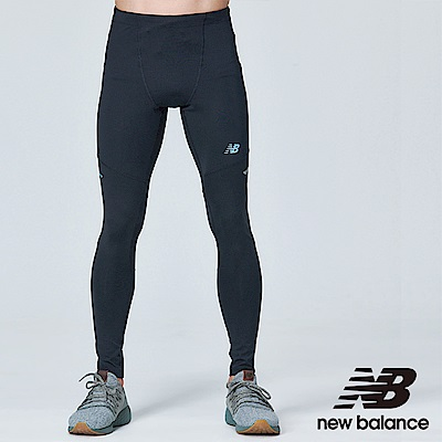 New Balance 慢跑緊身褲 AMP83229BK 男性 黑色