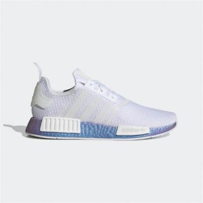 adidas 休閒鞋 NMD R1 襪套式 男女鞋 愛迪達 三葉草 Boost 情侶鞋 緩震 白藍 FV5344