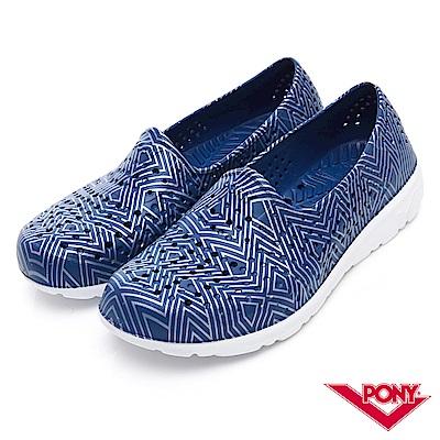 【PONY】TROPIC 輕量舒適GOGO鞋 涼鞋 拖鞋-中性-藍