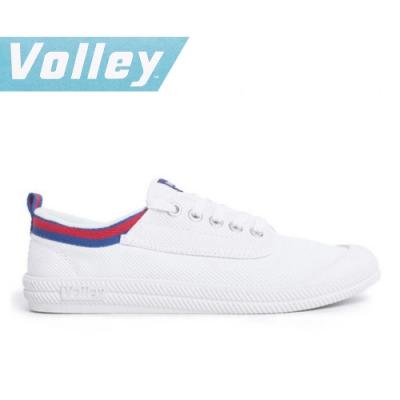 澳洲Volley 輕便休閒白鞋 情侶 男女款 藍紅