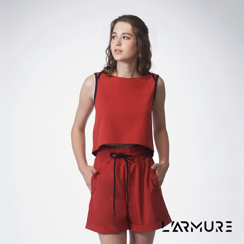 L'ARMURE 女裝 無袖防潑水彈性上衣 (紅磚色)