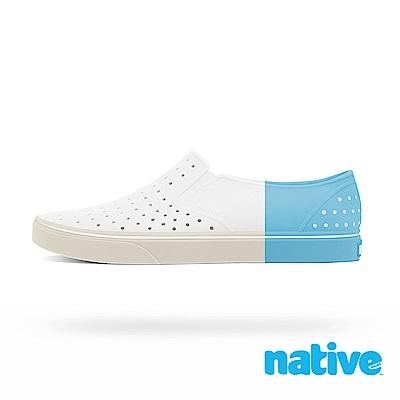 native MILES BLOCK 男/女鞋-貝殼白x水藍