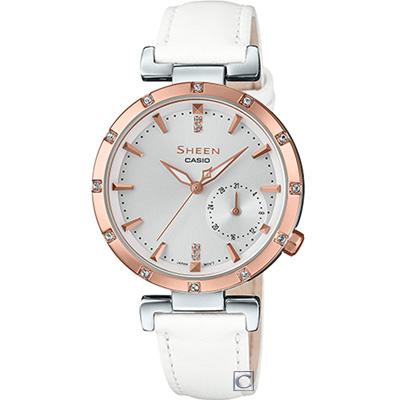 SHEEN 優雅風采時尚腕錶(SHE-4051PGL-7A)白/32mm