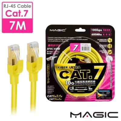 MAGIC Cat.7 SFTP圓線26AWG光纖超高速網路線(專利折不斷接頭)-7M