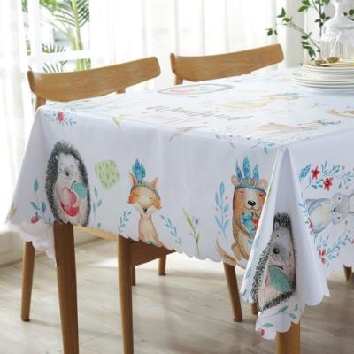 BUNNY LIFE 北歐風PVC防水防油桌巾/桌墊-動物王國 (135x180cm)