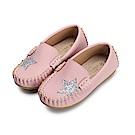 BuyGlasses 閃耀星鑽兒童豆豆鞋-粉