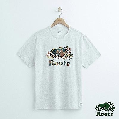男裝Roots 庫柏森林短袖T恤-灰